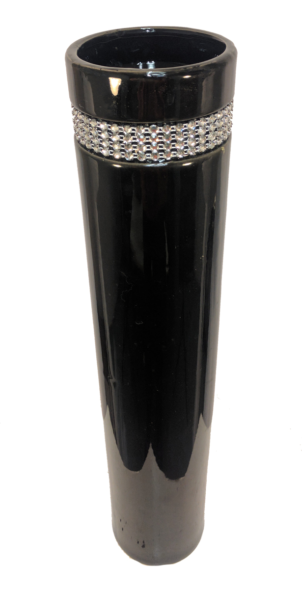 Cylinder Vase with Diamond Large